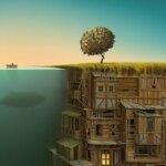 Dreamlike landscapes: awesome surrealist illustrations by Gediminas Pranckevicius