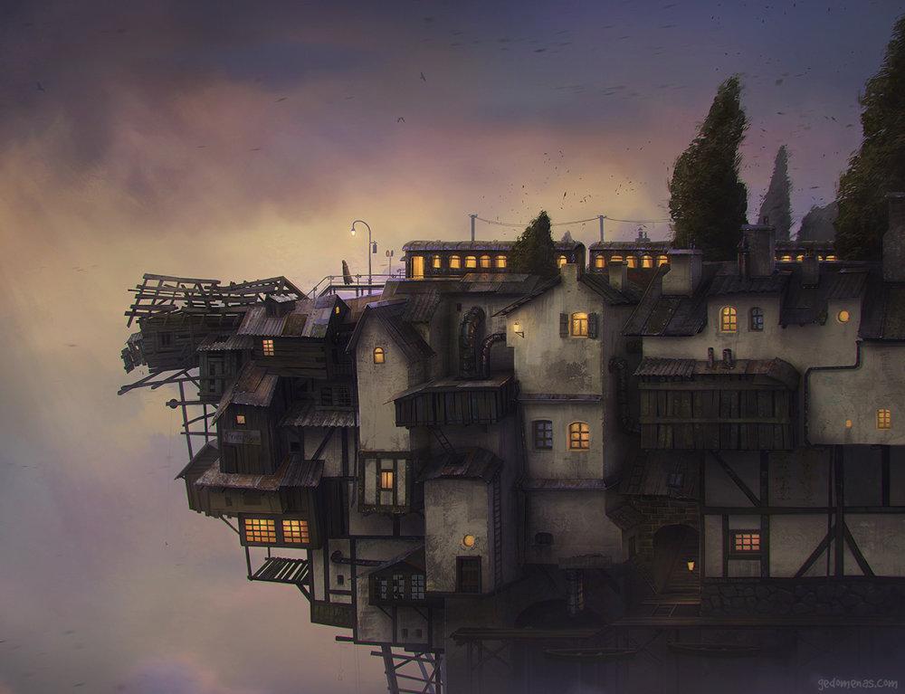 Hope - Dreamlike Landscapes Awesome Surrealist Illustrations By Gediminas Pranckevicius
