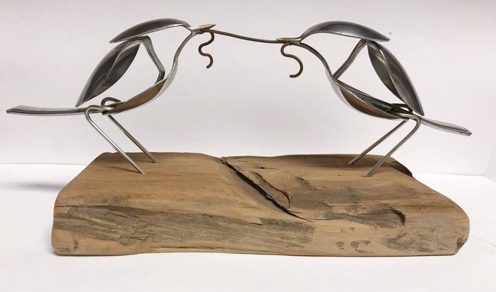 Incredible Silverware Animal Sculptures By Matt Wilson 4