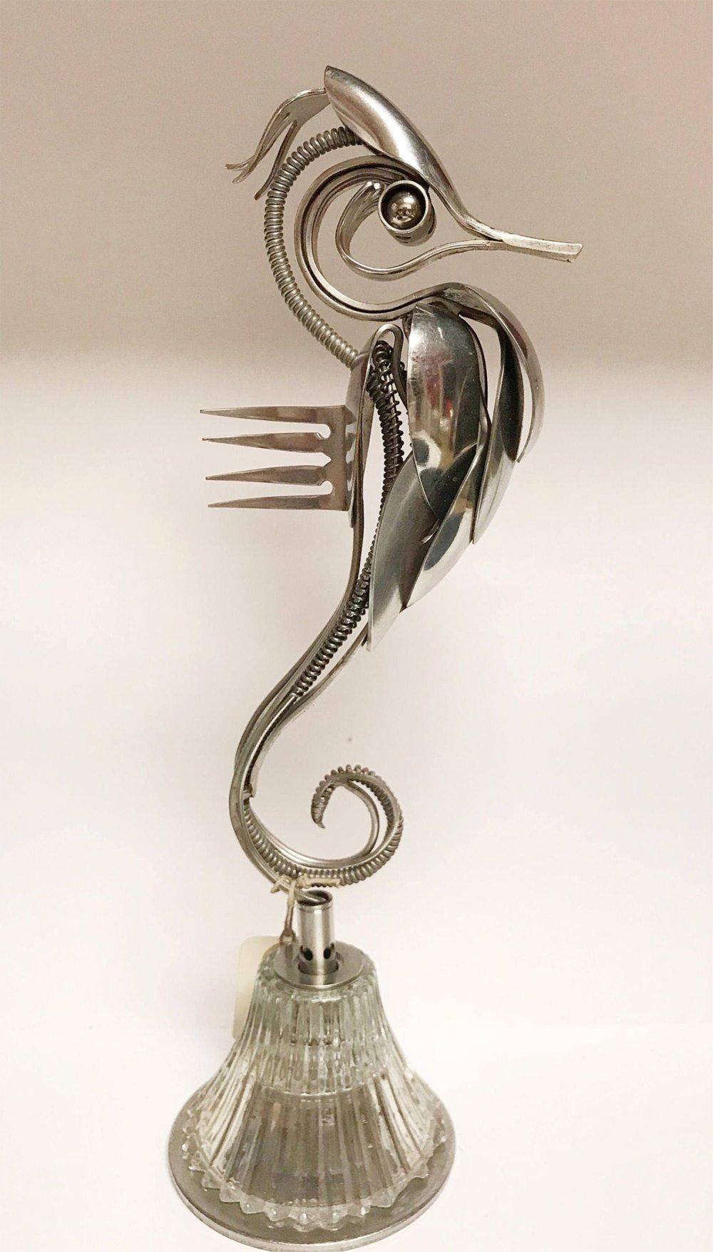 Incredible Silverware Animal Sculptures By Matt Wilson 5