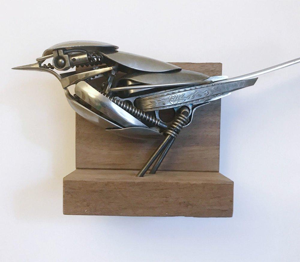 Incredible Silverware Animal Sculptures By Matt Wilson 6