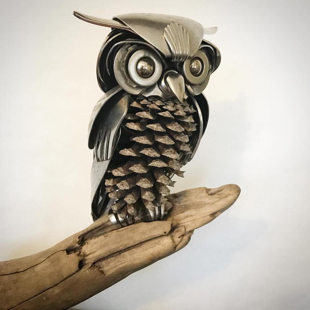 Incredible Silverware Animal Sculptures By Matt Wilson 8