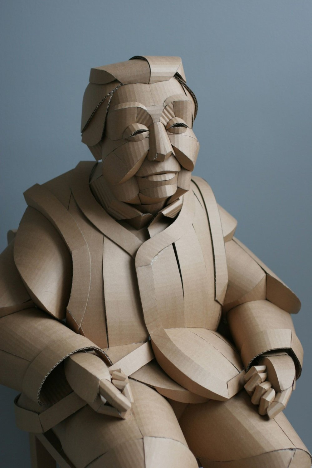 Magnificent Figurative Sculptures Made Entirely Out Of Cardboard By Warren King 1