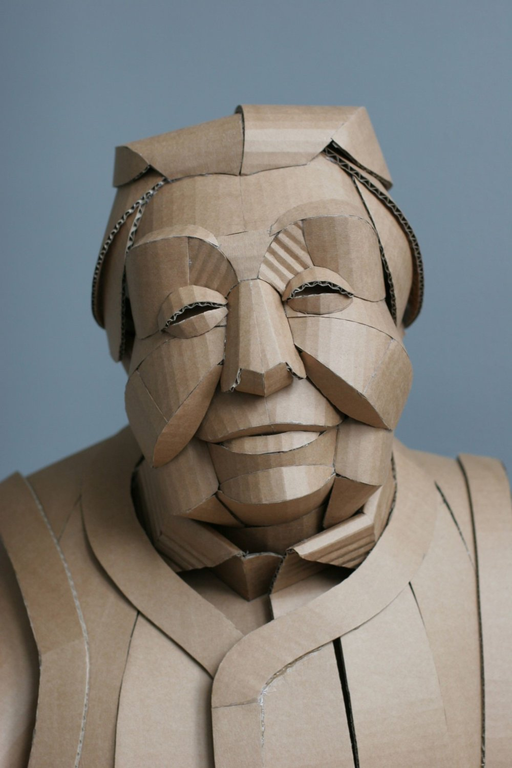 Magnificent Figurative Sculptures Made Entirely Out Of Cardboard By Warren King 2