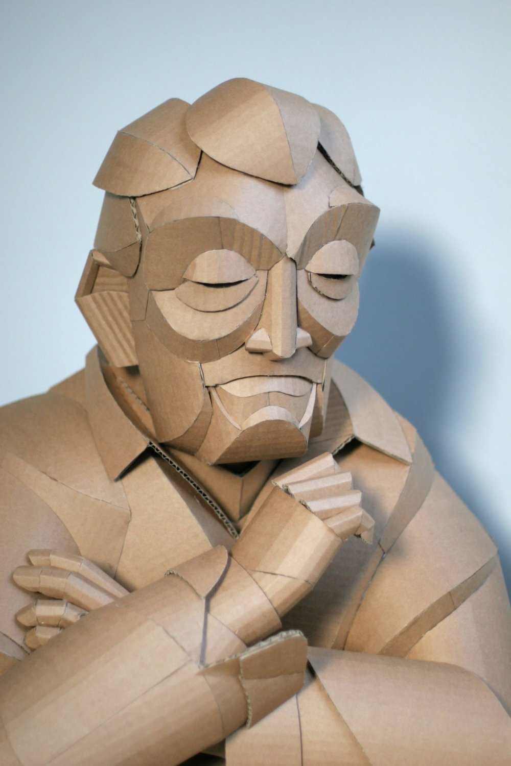 Magnificent Figurative Sculptures Made Entirely Out Of Cardboard By Warren King 5