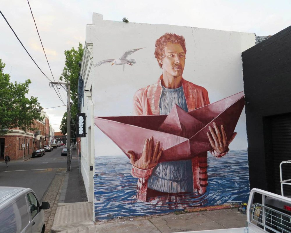 Magnificent Giant Photo Realistic Murals That Portray Political And Social Issues By Fintan Magee 6