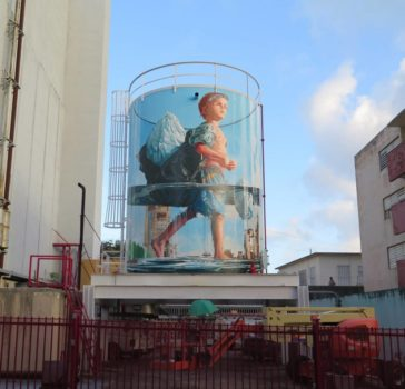 Magnificent giant photo-realistic murals that portray political and social issues by Fintan Magee