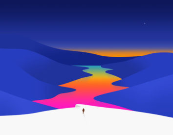 Minimalist and colorful illustrations by Effy Zhang