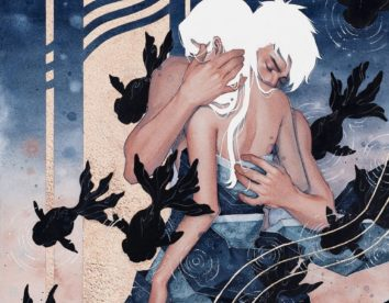 Whimsical and ethereal watercolors of women in deep moments of intimacy by Hieu Nguyen